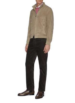 Figure View - Click To Enlarge - BRIONI - Logo embroidered crewneck knit sweatshirt