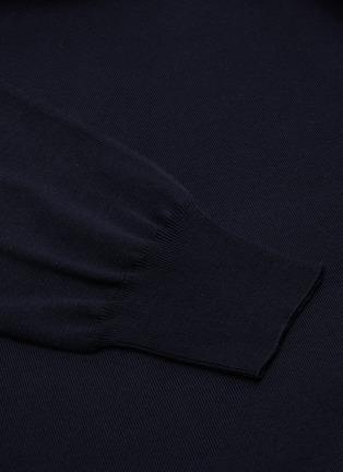 - BRIONI - Logo embroidered crewneck knit sweatshirt
