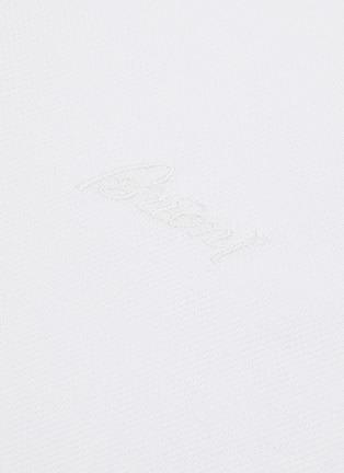 - BRIONI - Logo embroidered cotton polo