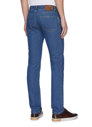 Back View - Click To Enlarge - BRIONI - Straight cut stretch jeans