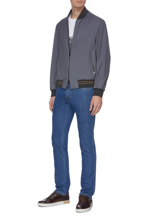 Figure View - Click To Enlarge - BRIONI - Straight cut stretch jeans