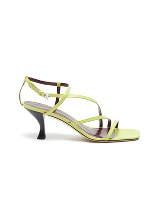 Main View - Click To Enlarge - STAUD - Mismatched strappy leather sandals