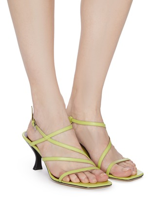 Figure View - Click To Enlarge - STAUD - Mismatched strappy leather sandals