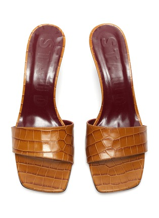 Detail View - Click To Enlarge - STAUD - 'Billie' croc embossed leather wedge sandals