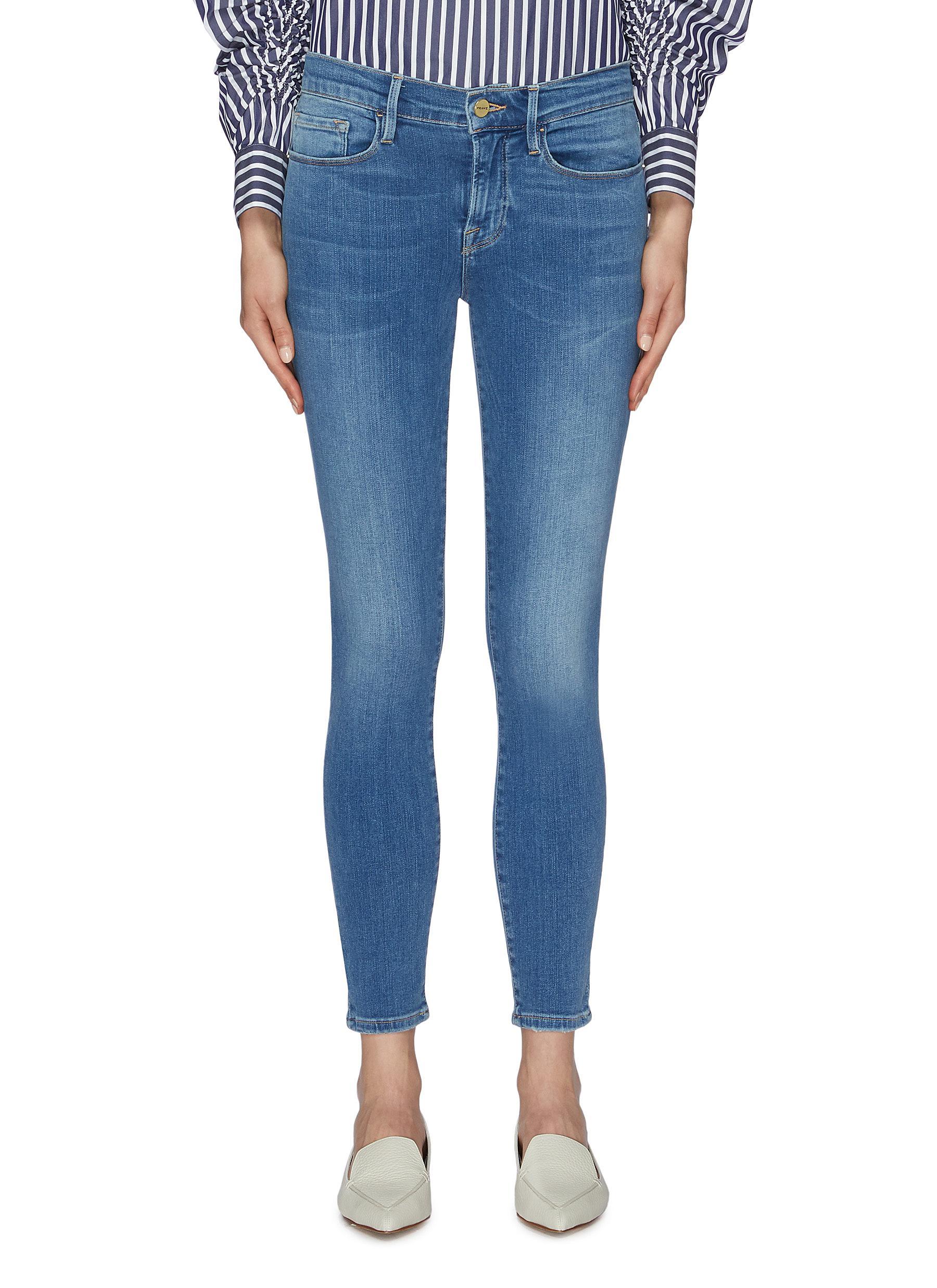 Le Skinny De Jeanne cropped jeans by Frame Denim