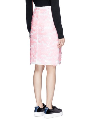 Back View - Click To Enlarge - Emilio Pucci - Sequin leaf embroidery lace pencil skirt