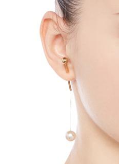 Sophie Bille Brahe x sacai 006 pearl drop 14k yellow gold single earring