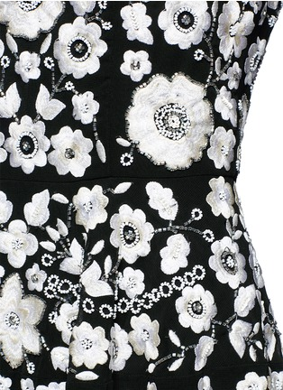 Detail View - Click To Enlarge - Needle & Thread - 'Blossom' floral embroidery embellished prom dress