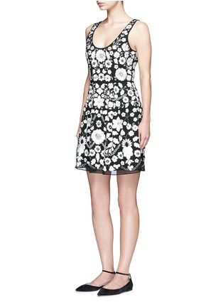 Figure View - Click To Enlarge - NEEDLE & THREAD - 'Blossom' floral embroidery embellished prom dress