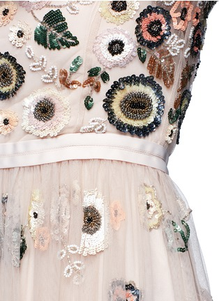 Detail View - Click To Enlarge - Needle & Thread - 'Woodland' lace trim embellished tulle dress