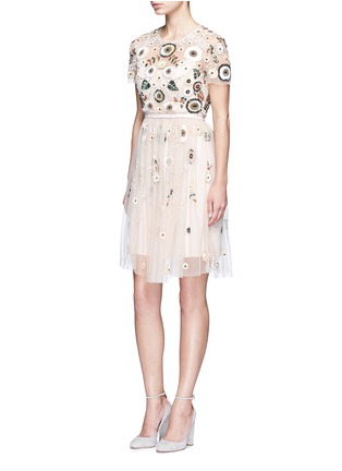 Figure View - Click To Enlarge - Needle & Thread - 'Woodland' lace trim embellished tulle dress