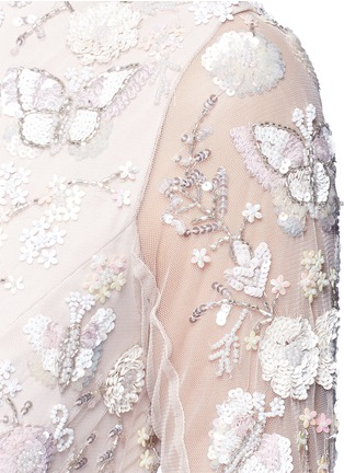Detail View - Click To Enlarge - Needle & Thread - 'Butterfly' embellished tulle gown
