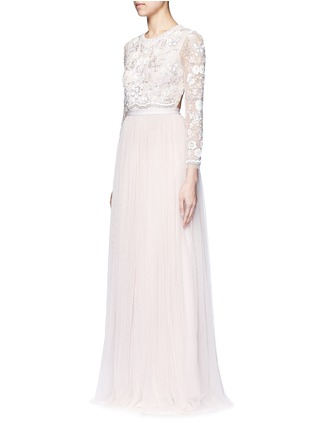 Figure View - Click To Enlarge - Needle & Thread - 'Butterfly' embellished tulle gown