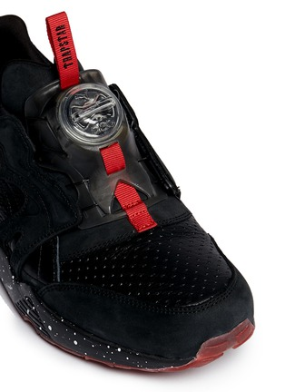 Detail View - Click To Enlarge - Puma - x Trapstar 'Disc Blaze' speckled sneakers