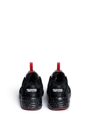 Back View - Click To Enlarge - Puma - x Trapstar 'Disc Blaze' speckled sneakers