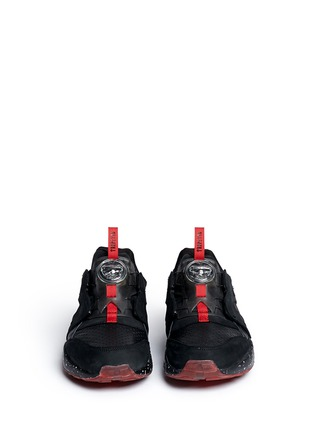 Front View - Click To Enlarge - Puma - x Trapstar 'Disc Blaze' speckled sneakers