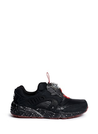 Main View - Click To Enlarge - Puma - x Trapstar 'Disc Blaze' speckled sneakers