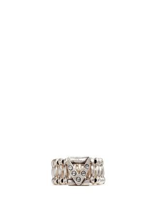 Main View - Click To Enlarge - Philippe Audibert - 'VIWY V' crystal bead elastic ring