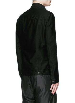 Back View - Click To Enlarge - Rick Owens DRKSHDW - 'Slave' cotton Cavalry twill jacket