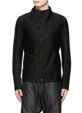 Main View - Click To Enlarge - Rick Owens DRKSHDW - 'Slave' cotton Cavalry twill jacket