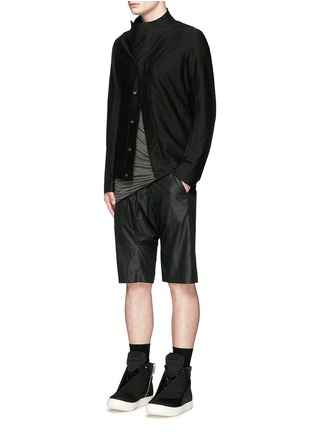 Figure View - Click To Enlarge - Rick Owens DRKSHDW - 'Slave' cotton Cavalry twill jacket