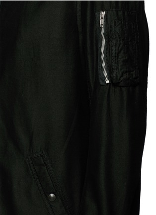 Detail View - Click To Enlarge - RICK OWENS DRKSHDW - 'Flight' bomber trench coat