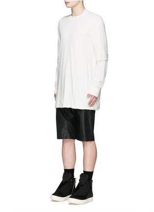 Front View - Click To Enlarge - Rick Owens DRKSHDW - 'Hustler' double layer long sleeve T-shirt