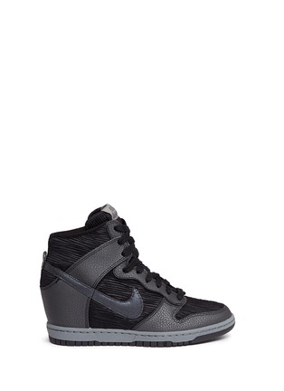 Main View - Click To Enlarge - Nike - 'Dunk Sky Hi' concealed wedge sneakers