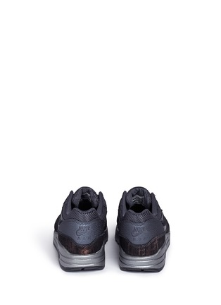 Back View - Click To Enlarge - Nike - 'Air Max 1 Premium' waxed leather textile sneakers