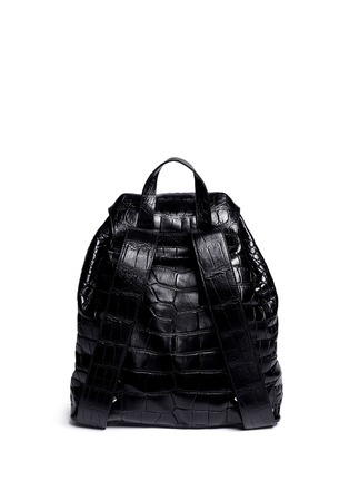 Back View - Click To Enlarge - Stalvey - 'Sun' alligator leather backpack