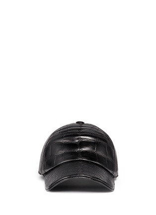 Main View - Click To Enlarge - Stalvey - Alligator leather baseball cap
