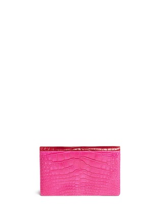 Back View - Click To Enlarge - STALVEY - 'Adysen' colourblock alligator leather envelope clutch