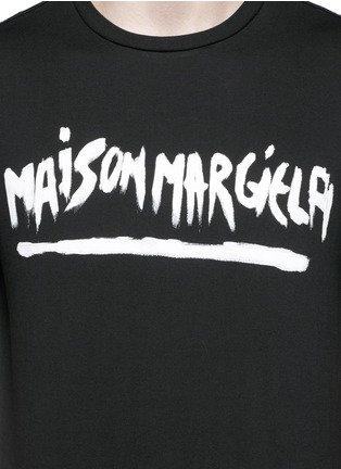 Detail View - Click To Enlarge - MAISON MARGIELA - Logo print T-shirt