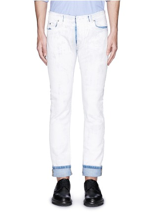 Detail View - Click To Enlarge - Maison Margiela - Chalk effect slim fit jeans