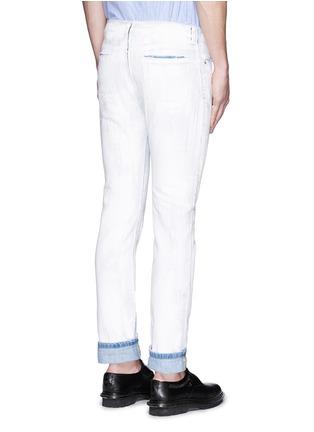 Back View - Click To Enlarge - Maison Margiela - Chalk effect slim fit jeans