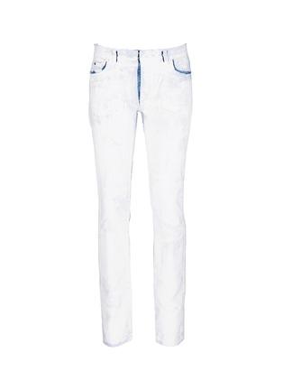 Main View - Click To Enlarge - Maison Margiela - Chalk effect slim fit jeans