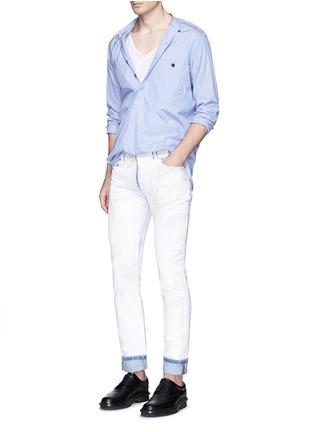 Figure View - Click To Enlarge - Maison Margiela - Chalk effect slim fit jeans