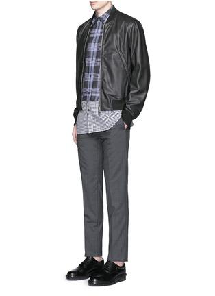 Figure View - Click To Enlarge - Maison Margiela - Mixed check linen-cotton shirt