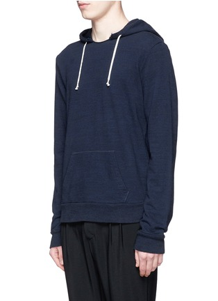 Front View - Click To Enlarge - Maison Margiela - Raw edge crew neck hoodie