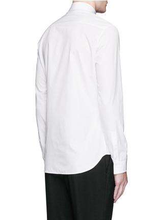 Back View - Click To Enlarge - Maison Margiela - Crinkled bib poplin shirt