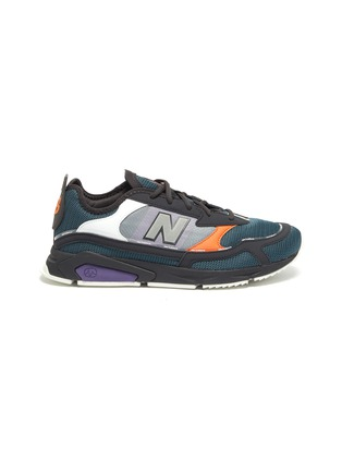 Main View - Click To Enlarge - NEW BALANCE - 'X-Racer' colourblock panel perforated sneakers