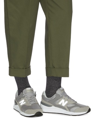 Figure View - Click To Enlarge - NEW BALANCE - 'X90T' patchwork sneakers