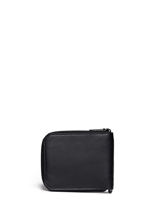 Back View - Click To Enlarge - Alexander Wang  - Zip leather bifold wallet