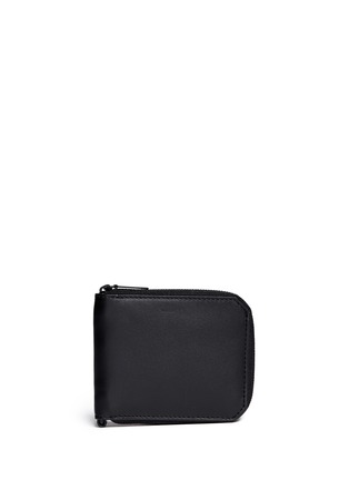 Main View - Click To Enlarge - Alexander Wang  - Zip leather bifold wallet