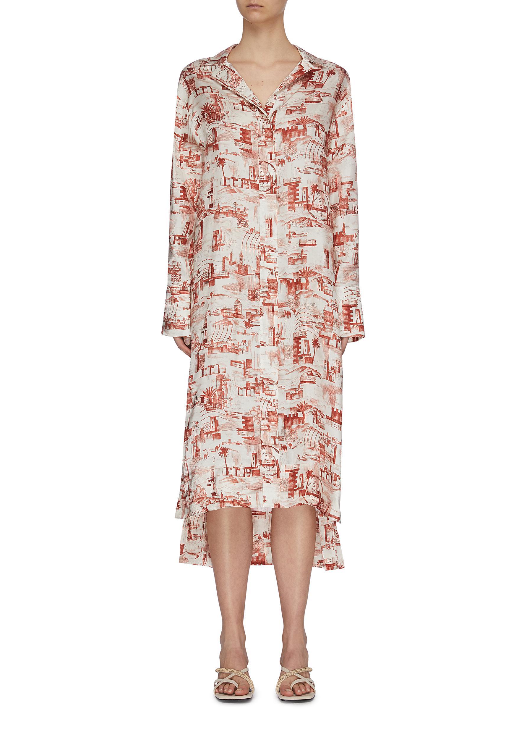 shop Joseph Small stamp print dress online