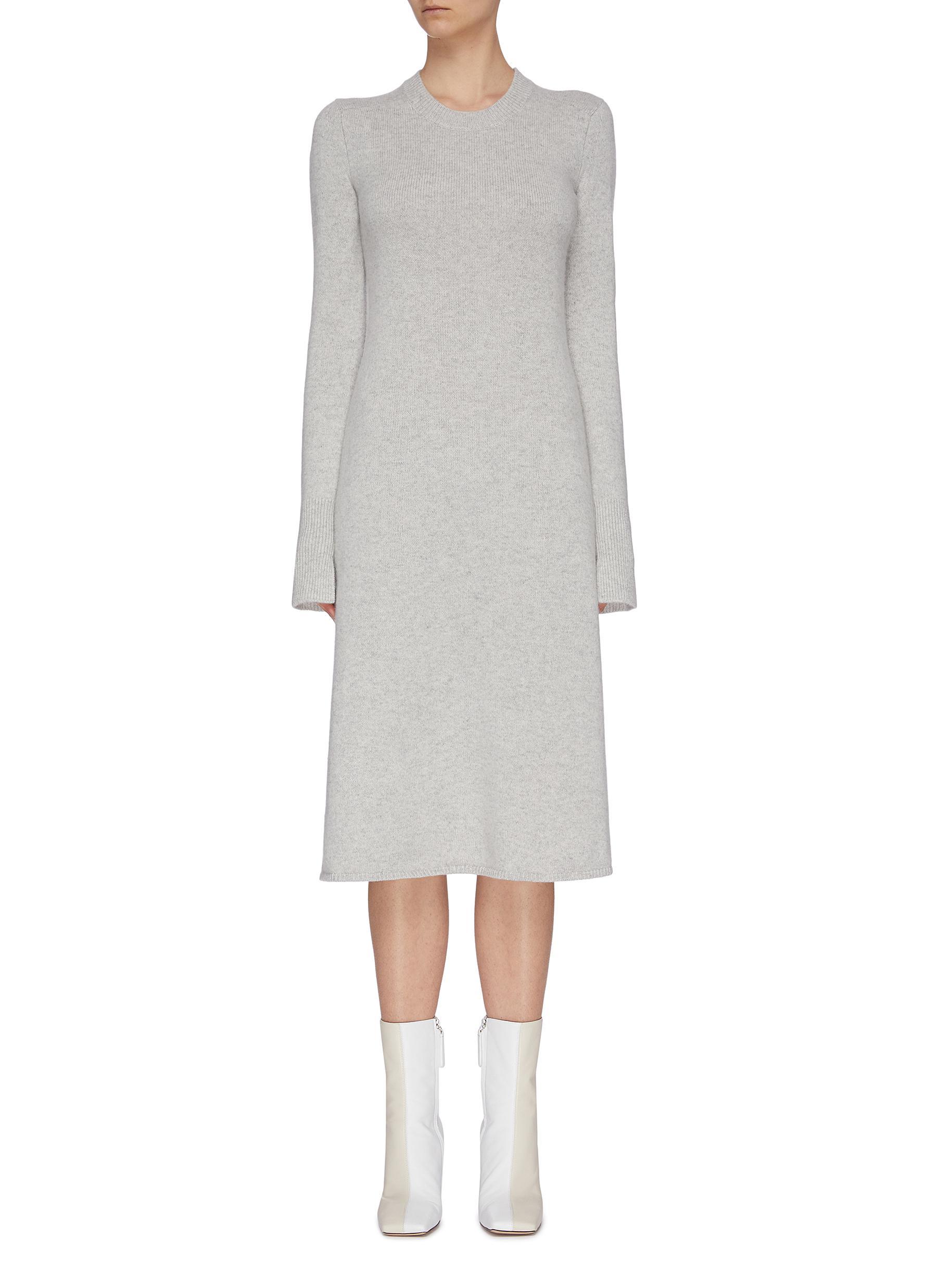 shop Joseph Crew neck cashmere dress online