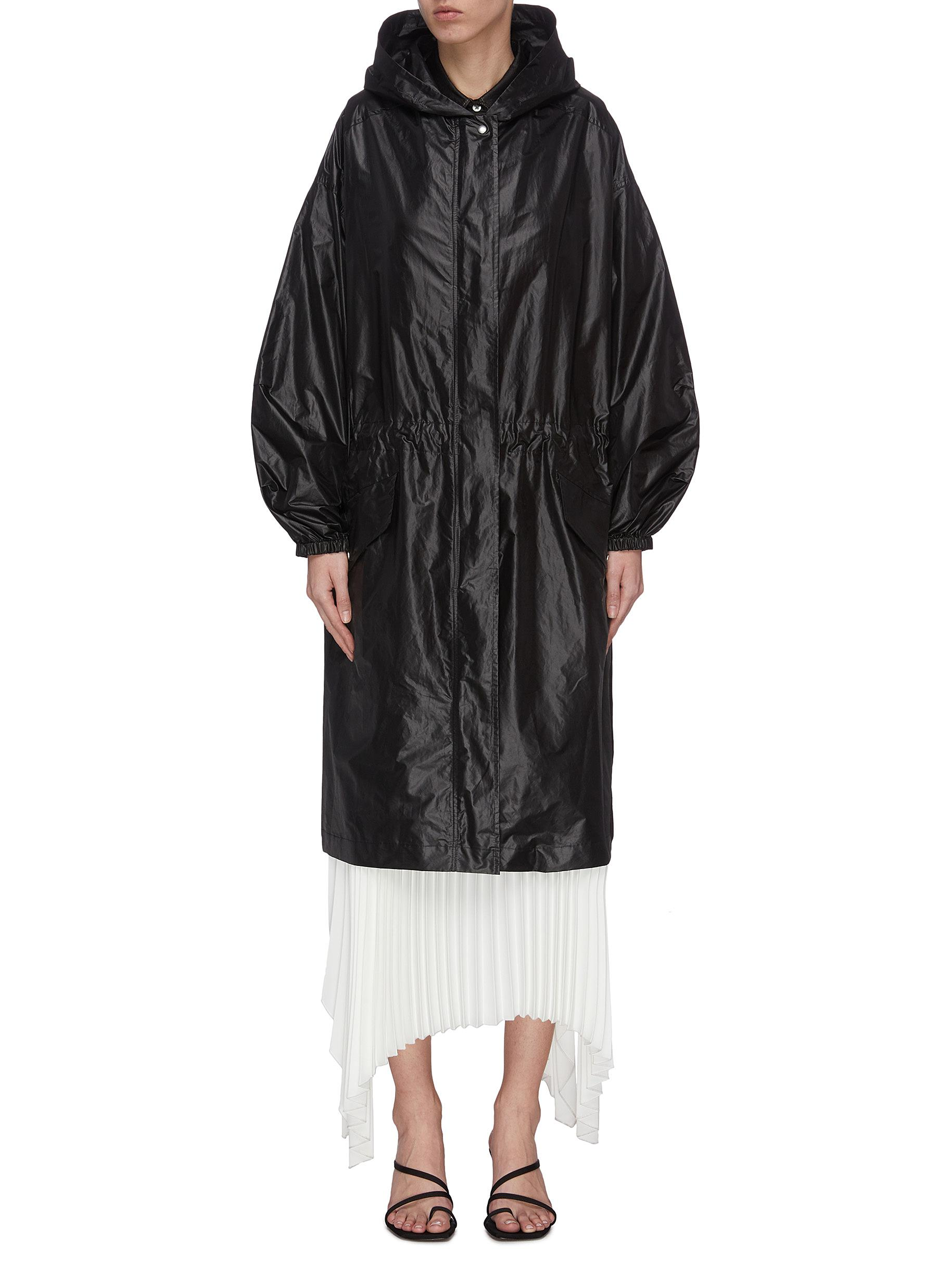 shop Joseph Hooded zip-up coat online