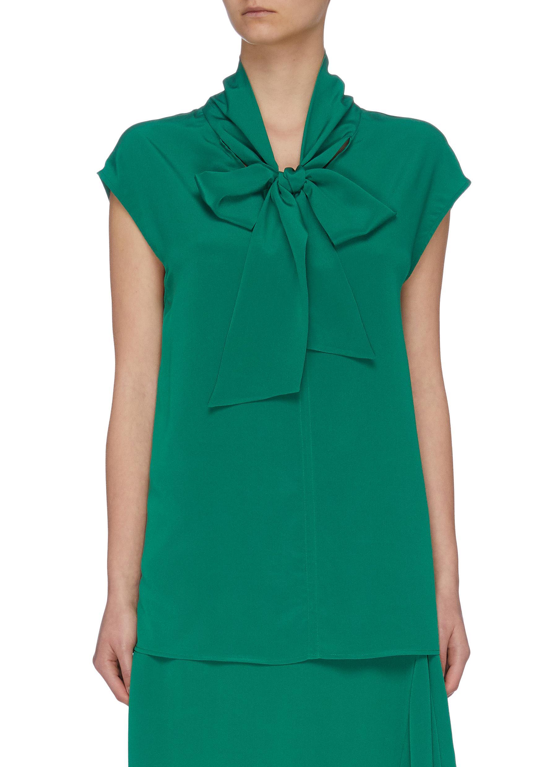 shop Joseph Ribbon tie detail sleeveless blouse online