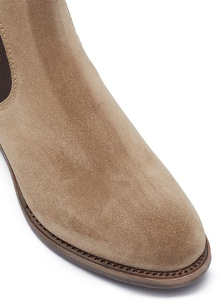 Detail View - Click To Enlarge - PROJECT TWLV - 'Hanoi' suede sand leather boots