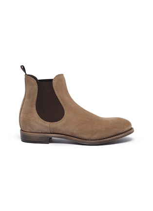 Main View - Click To Enlarge - PROJECT TWLV - 'Hanoi' suede sand leather boots